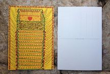 MAIL ART (Postcard) / Disegni su cartolina postale con pennarelli indelebili. Permanent color waterproof on postcard