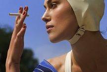 To go to the sea... / Pretty or with fantasy...  I love bathing cap.  Bonnet de bain pour jolie baignade