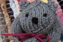 Knitting, crochet and weaving
