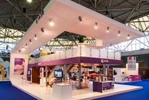 Exhibition double deck booths / Double deck booth designed and build for exhibitions worldwide by The Inside stand building