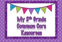 {My} 8th Grade Common Core Math Resources / Common Core Lessons for 8th Grade Math.