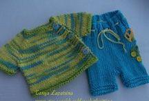 örgü bebek tulumları ,takımları, knit baby set / örgü bebek tulum takım