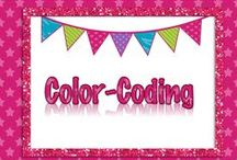 Color-coding and Posters / Color-coding, Sticky Notes and Posters