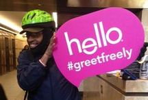 world hello day / on friday 11/21 we spread the friendly around NYC to celebrate World Hello Day! we gave out breath spray and made some new friends from Bryant Park all the way to Union Square. / by hello products