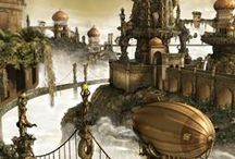 Steampunk / Oh my goodness! I've loved Steampunk for so long but I never knew the proper name for it so I never knew how to find all the amazing artworks and themes until now! I really love how its just like Victorian Times but with a fabulous futuristic twist. I would love to visit a place like this! Hopefully I'm not the only one!!!