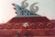Road66 en roller / 4400 en 44 jours de Chicago à Los Angeles en patins ( Roller ) en 2000 par benoît Boyer