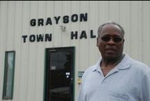 Grayson, Oklahoma / One of Oklahoma's remaining historical all-black towns. Find out much more about these towns and contribute your knowledge at www.struggleandhope.com