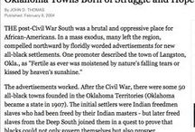 Articles about Oklahoma's Black Towns / See much more at www.struggleandhope.com