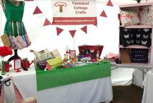 Craft stalls / The many different ways we try and display all our lovely products. www.toadstoolcottagecrafts.co.uk