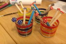 Behind the scenes at Toadstool Cottage Crafts / Photos of some of our craft products being made.