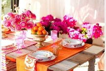PRETTY TABLES// / Table Settings, Tableware, Decorations, Celebrations/ Tea Party.  / by Abbie Hanssen