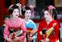 Geisha and kimono