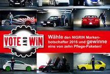 NIGRIN Markenbotschafter / NIGRIN kührt jährlich 3 Markenbotschafter. Ihr findet auf dieser Pinnwand alle Kandidaten und auch alle Sieger aus den Jahren 2015, 2016, 2017 und 2018.