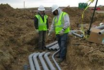 Commercial Electricians / Laying electrical conduit for a commercial project.
