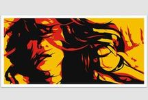 RETRO POSTER / This is a collection with beautiful designs (women, men, girls, cars, sports, retro, vintage, abstract) of posters.
