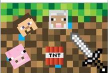Minecraft Idea Chest / Minecraft printables, food, party ideas, fonts, DIY projects, toys, fanart, cutouts, crafts, Easter baskets, room decor and more. All the things.
