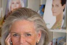 Peinados con canas / Hairstyles grayhair / Inspiración peinados. Moda mayores de 50. Hairstyles. Fashion over 50