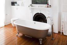 Bathrooms / Bathroom, Wet Room, Shower, Bath, Small bathroom, vanity, tiles, taps, faucets, white, grey, designer