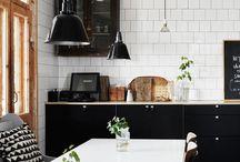 Kitchen / Kitchen, white, marble, bench tops, tiles, splash back, Smeg fridge, sinks, taps, kitchen lighting, kitchen renovations, stove top, classic, grey, stylish, designer, budget, make over