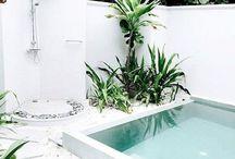 Outdoors / Outside spaces, outdoors, garden, court yard, terrace, plants, vertical garden, outdoor lighting, decks, patios, outdoor shower, exterior,