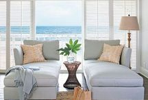 Coastal Style / Coastal Property, beach house, lake house, by the sea, blues, Aqua, white, neutral, nautical, glass, timber, blue, white, grey, neutrals.