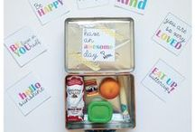 Lunch Box Surprises / Healthy Food, Love Notes and Surprises for Lunch Boxes