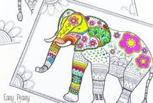 Free Printables To-Go / Printables for every Occasion. Colouring pages, Activity Sheets, Lunch Box Notes, Wall Art and More #IndianMomsConnect