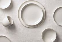 INWHITE Tableware - Rörstrand - 2014 / Inwhite aim to be a timeless everyday service ideally adapted to the way people live their lives today. The form has been inspired by Blanche, one of Rörstrand's classic services from the 1930s. The straight, clean-cut lines combine to produce a softly rounded appearance as the plates and bowls float on the table. A discreet R in relief on the side of each piece, proudly proclaims the provenance of Inwhite and gives it the seal of quality.
