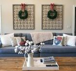 Home Holiday Decorating Tips / SAROM INspired, Home Décor, Home Design, Interior Design, Happy Holidays, Merry Christmas, Christmas, Farmhouse, Winter, Tis The Season, DIY, Do It Yourself, Garland, Christmas Tree, Fireplace, Mantle, Chimney, Burlap
