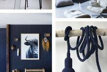 et aussi ... inspiration in blue / Interior inspiration in blue tones. Products by et aussi in blue shades combined with inspirational interiors.