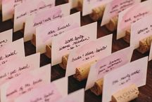 Escort cards/table