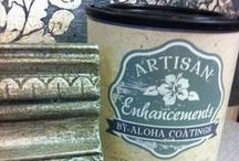 INSPIRE - Artisan Enhancements® / A collection of pins featuring mediums from Artisan Enhancements®! Combine with Annie Sloan Chalk Paint® to creature gorgeous professional finishes and textures.