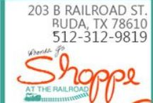 Rhonda J's ~ Shoppe at the Railroad / Specializing in home decor decorative finishes this shop is filled with an eclectic mix of home decor, house wares, and an irresistible blend of today's fashions and accessories. http://www.rhondajdesigns.com/HomeStore.html
