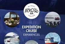 Antarctica & Patagonia / Put down the map and get wonderfully lost! Expeditions to the unexplored lands of the End of the World. Ancient glaciers, fjords, whales, penguins and much more!