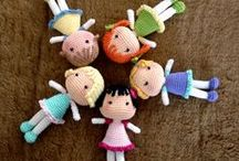 """Doll Crochet & Knit / American Girl 18"""" doll;  Barbie doll clothes and accessories for crochet / by Carole Franz"""