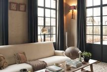 Home Decor / Shades of Gray, Neutrals and warm elements.  Focused on keeping with character of the house including stained wood trim
