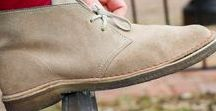 Clarks Desert® Boots / An international cult classic, the iconic men's Desert® Boot by Clarks Originals® was inspired by crepe-soled boots worn by British officers in World War II. Crafted from natural materials for supreme comfort, its timeless styling has remained unchanged for over 60 years.