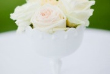 Milk Glass / Inspiration for using crates, baskets, bins, and other containers at your events!