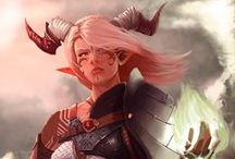 dungeons and dragons / fantasy characters fictional worlds / by Sara Libby