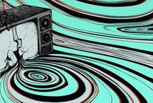 Trippy Space / Optical, Op art, Illusions, Mystical, Trippy, Out of this World