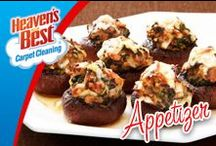 Appetizers / They say for a good party you need 3 things. Good atmosphere, good food, and good company. Let Heaven's Best help create a lovely atmosphere by cleaning your carpets and floors before your parties. Give Greg Humphrey in Charlotte NC a call today. 704-363-7487
