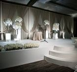 "Fabric Backdrops / Add a ""Wow"" effect to your wedding with a Fabric Backdrop from Elegant Event Lighting!  Check out our pins to see examples of our Fabric Backdrops from various Chicago Wedding Reception Venues.  www.EELchicago.com"