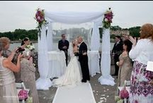 Ceremony Chuppah & Bridal Canopies / Your Chuppah or Bridal Canopy can be traditional square or circular and designed in many different configurations from fabric choice and lighting.    www.EELchicago.com