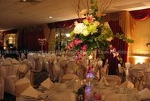 Flower Lighting / Beautifully accent your table centers to enhance the centerpieces and illuminate your beautiful wedding flowers.  We can also highlight your wedding cake, sweets table and place card table.   www.EELchicago.com