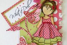doll stamp cards