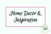 Home Decor & Inspiration / From ideas to inspire, to decorating a space, to coordinating colors.