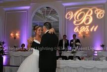 Monograms / Personalize your wedding with a custom monogram from Elegant Event Lighting Chicago! www.EELchicago.com