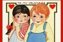 Valentine Quilt Blocks / Vintage Valentine images of antique postcards and trade cards printed on cloth for quilters. Quilt Block Sets of 4 include a free Wall Hanging Pattern.