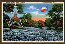 Texas Quilt Blocks Vintage / Vintage Texas postcards and paper ephemera printed on cloth for quilters. Quilt Block Sets of 4 - 4x6 include a free Wall Hanging Pattern. Quilt Block Sets of 4 - 4x4 include a free Hot Pad Pattern.