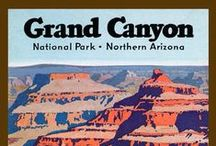 Grand Canyon National Park Quilt Blocks / Vintage Grand Canyon National Park images of antique postcards and posters printed on cloth for quilters. Quilt Block Sets of 4 include a free Wall Hanging Pattern.
